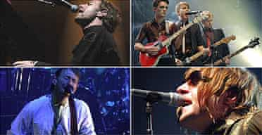 Coldplay, Franz Ferdinand, Oasis, Radiohead