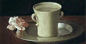 Zurbarán's Cup of Water and a Rose