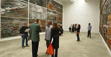 Anselm Kiefer's Für Chlebnikov installation at Hoxton Square, London