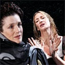 Harriet Walter and Janet McTeer in Mary Stuart, Donmar Warehouse