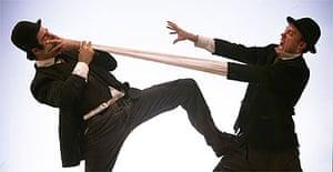 All Wear Bowlers, starring Geoff Sobelle and Trey Lyford, Edinburgh 2005