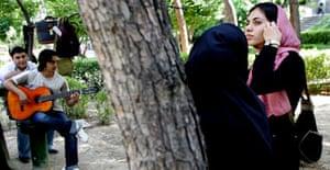 Teenagers enjoying music in Tehran, Iran