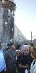 Daniel Barenboim visits Qalandyah checkpoint in the West Bank city of Ramallah