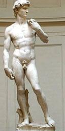 Full frontal of Michelangelo's David