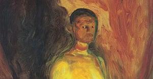 Edvard Munch, Self portrait in Hell