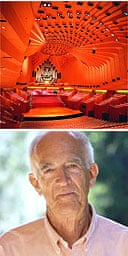 Sydney Opera House concert hall, designed by Jorn Utzon