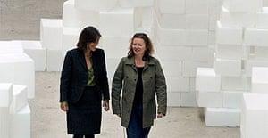 Rachel Whiteread at her Tate Modern Turbine Hall installation