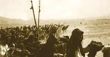 Feisal's army on the move, photographed by TE Lawrence