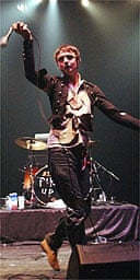Pete Doherty performing with Babyshambles