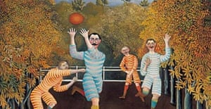 The Football Players by Henri Rousseau
