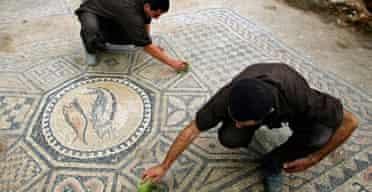 Megiddo prison mosaic, Israel