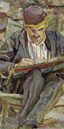 Portrait of John Maynard Keynes by Duncan Grant, 1917
