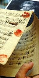 Beethoven Grosse Fugue manuscript Sotheby's December 2005
