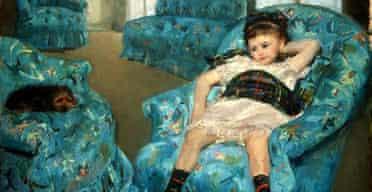 Mary Cassatt, Little Girl in a Blue Armchair