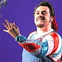 George Petean as Figaro in ROH's The Barber of Seville, 2005