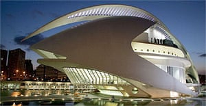 Santiago Calatrava's Palace of Arts and Sciences in Valencia, Spain Wednesday, Oct. 5, 2005