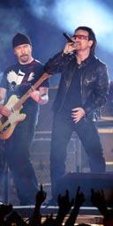 U2 perform at the 2006 Grammy awards