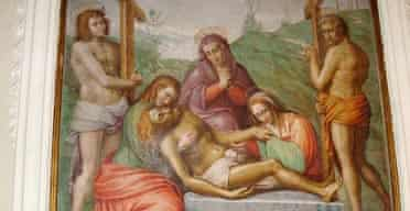 La Pieta, thought to be by Michelangelo