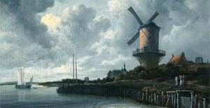 Detail from Windmill at Wijk bij Duurstede by Jacob van Ruisdael