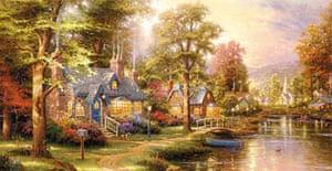 Hometown Lake (1997) by Thomas Kinkade