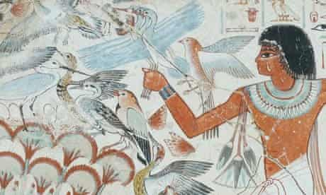 Wall painting on plaster from the Tomb of Nebamun, 1350 BC