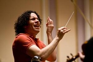 Gustavo Dudamel, by Clive Barda