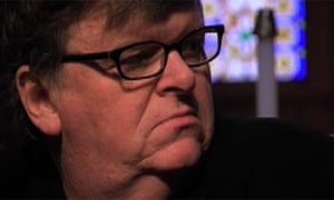 Michael Moore in a still from Capitalism: A Love Story