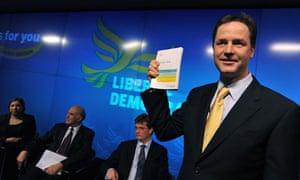 Nick Clegg launches Liberal Democrats' manifesto.