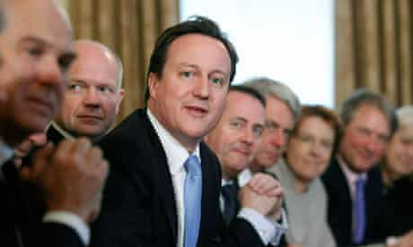 David Cameron and his new coalition cabinet