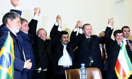 Iran, Turkey and Brazil celebrate nuclear deal
