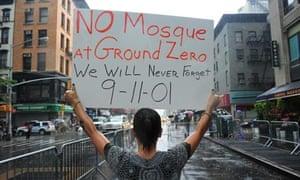 Rally against proposed 'Ground Zero Mosque',  New York, America - 22 Aug 2010