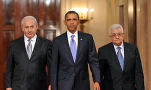 Obama, Netanyahu and Abbas