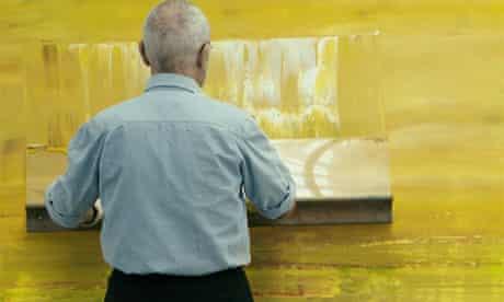 Gerhard Richter at work
