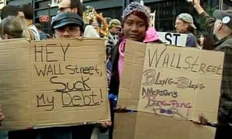Occupy Wall Street protests: 'The rich get richer' - video