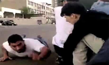 Man running for cover Inside Syria's brutal regime