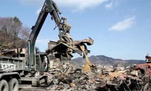Clear up underway in tsunami-hit Japan