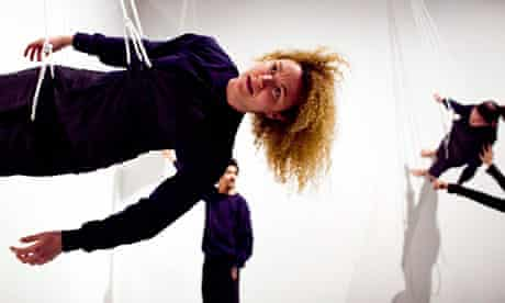 Rehearsal of Walking on the Wall at Barbican Art Gallery