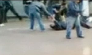 Syrian forces opened fire on hundreds of youths- video