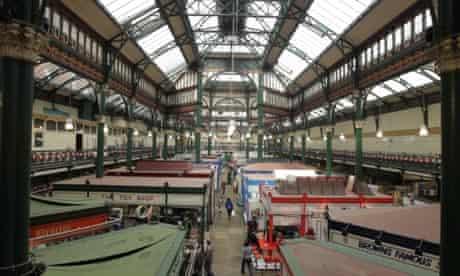 An interior shot of Leeds Market