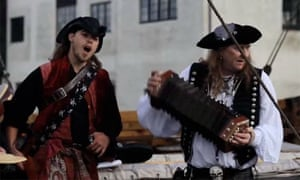 Pirate reenacters at the International Sea Shanty Festival