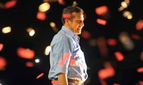 Peruvian presidential candidate Ollanta Humala