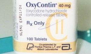 A bottle of OxyContin brand Oxycodone tablets