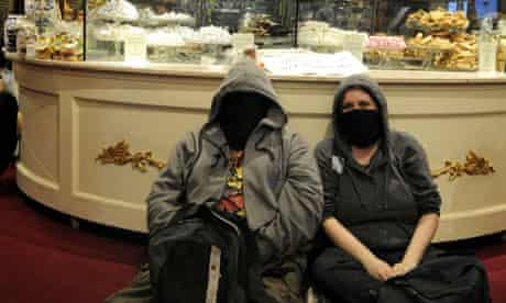 Protesters occupy the Fortnum and Mason