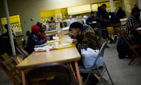 Detroit soup kitchen, US poverty