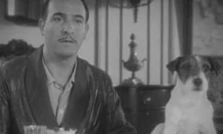Jean Dujardin and Uggie the dog in The Artist