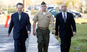 US marine Frank Wuterich arrives at Camp Pendleton with his lawyers