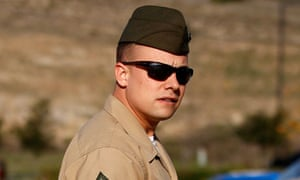 Frank Wuterich leaves after a court session at Camp Pendleton