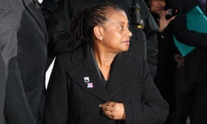 Doreen Lawrence, Stephen Lawrence's mother, speaks to press outside the Old Bailey