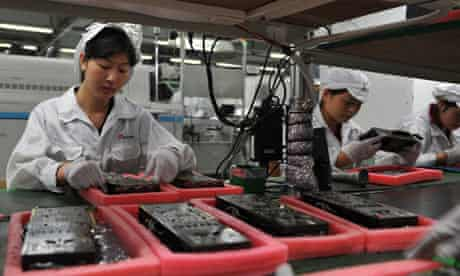 Apple workers in China