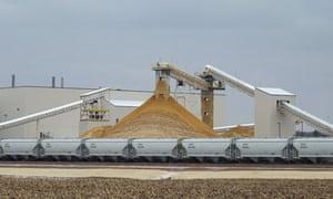 Fracking plant, Wisconsin